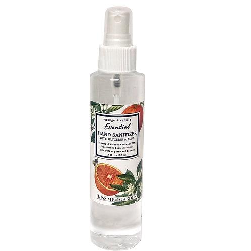 Hand Sanitizer SPRAY 4 oz -Orange Vanilla