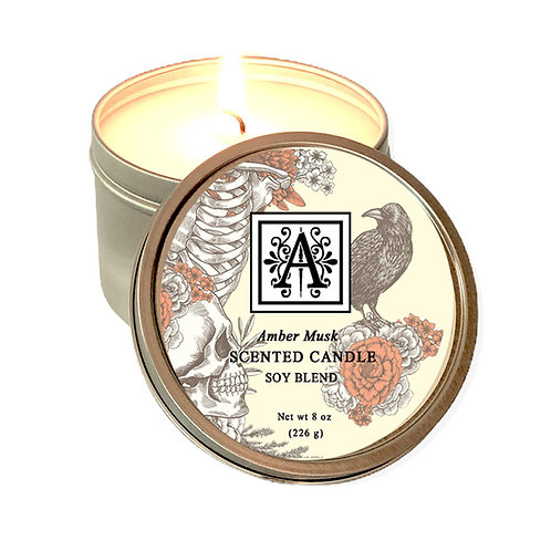 Amber Musk Soy Candle 8 oz