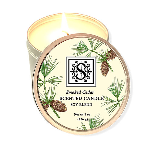 Smoked Cedar Soy Candle 8 oz