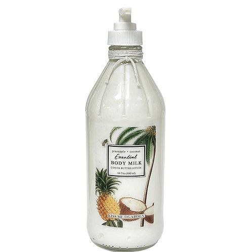 Pineapple Coconut 16 oz Body Milk (glass)