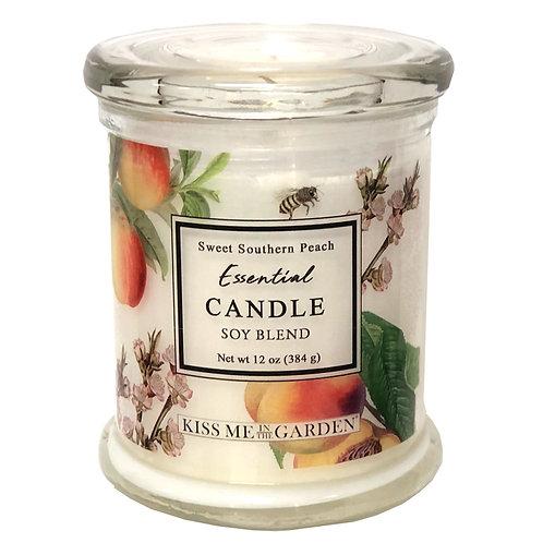 Peach Soy Candle 12 oz