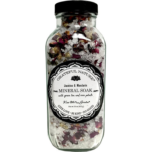 Grateful Nature Mineral Soak 16 oz (glass)