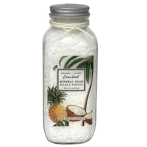 Pineapple Coconut 16 oz Mineral Soak (glass)