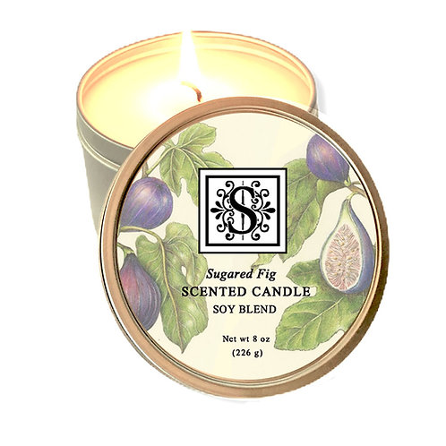 Sugared Fig Soy Candle 8 oz