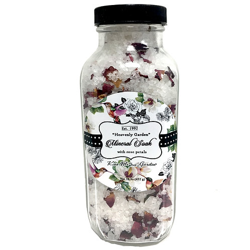 Heavenly Garden Mineral Soak 16 oz (glass)