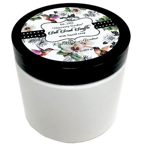 Heavenly Garden Salt Scrub Souffle 16 oz