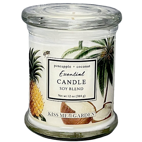 Pineapple Coconut 12 oz soy Candle (glass)