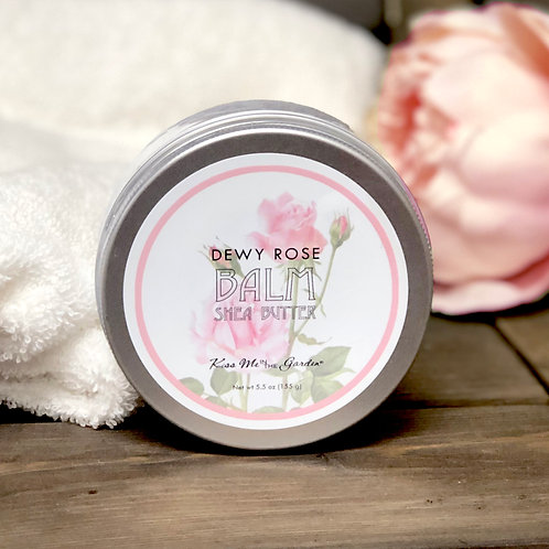 Shea Butter Balm in DEWY ROSE scent 5 oz