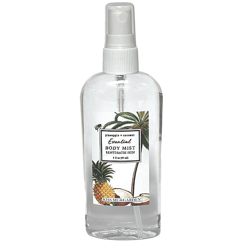 Pineapple Coconut 3 oz travel Body Mist