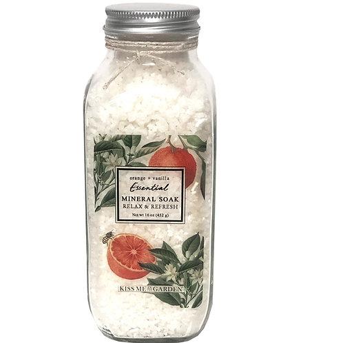 Orange Vanilla Mineral Soak 16 oz (glass)