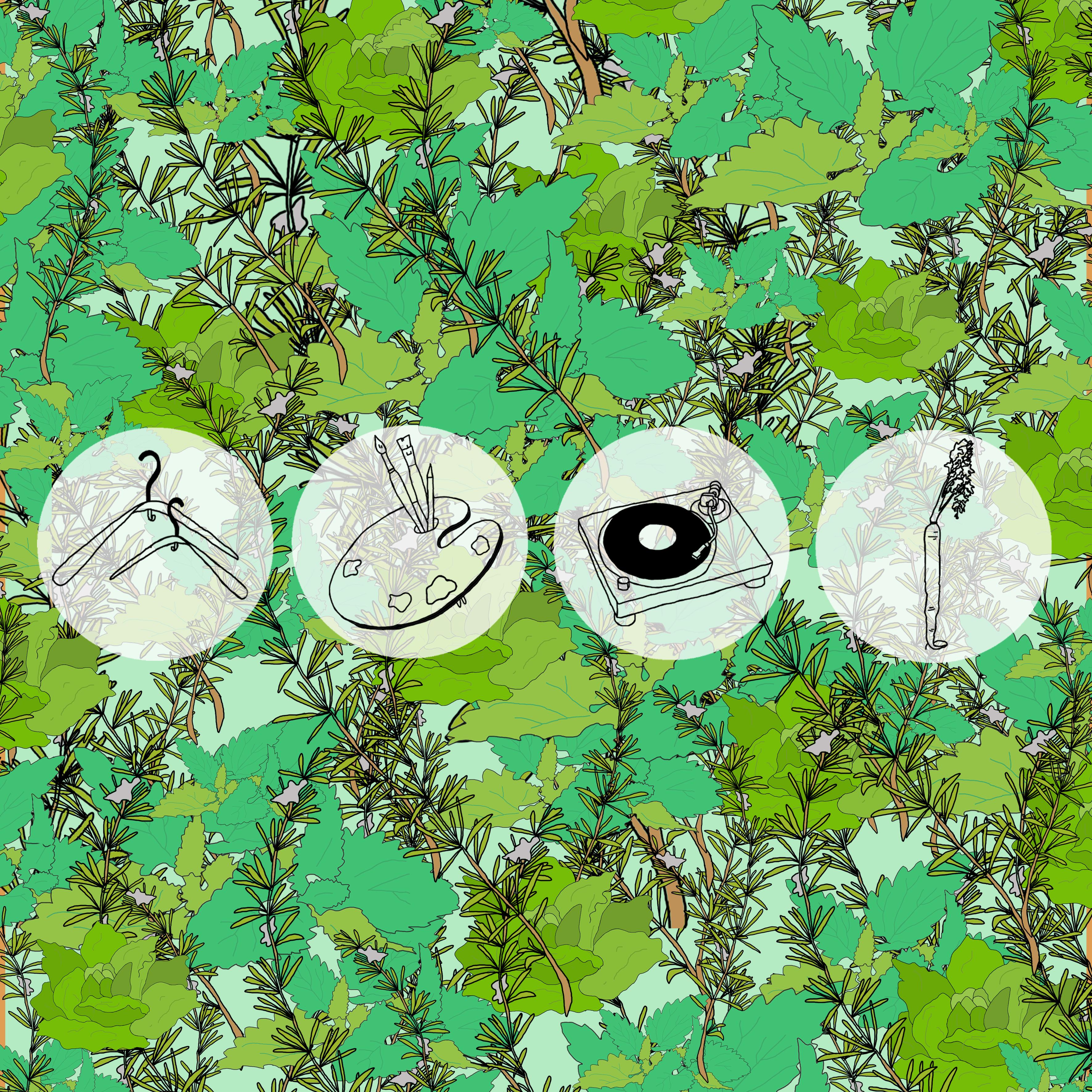 Profil Logo fond verdure motif
