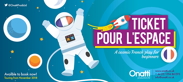 Ticket pour l'espace - play in French for Children - Primary