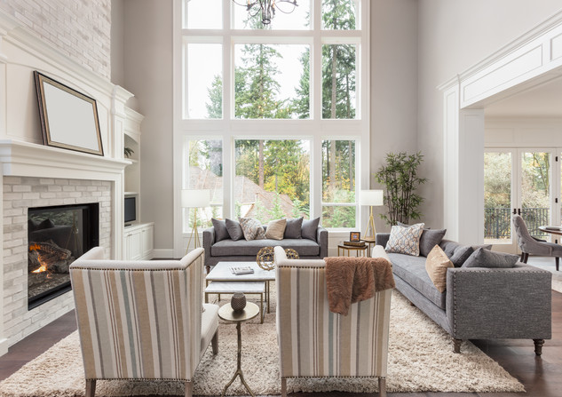 Beautiful furnished living room interior