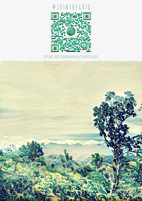 QR code, Gaia, Grid, Poster, Milaap, jointhegrid