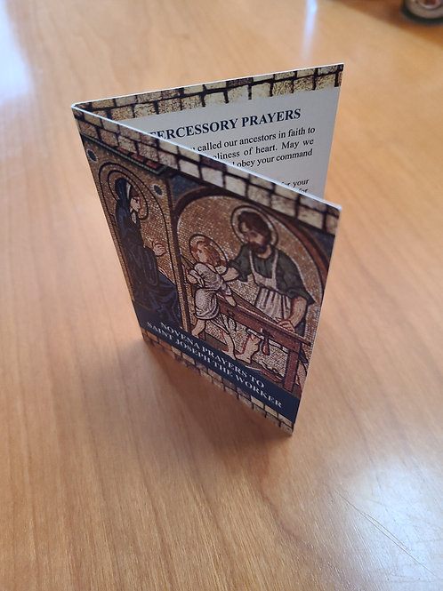Novena prayer card St Joseph