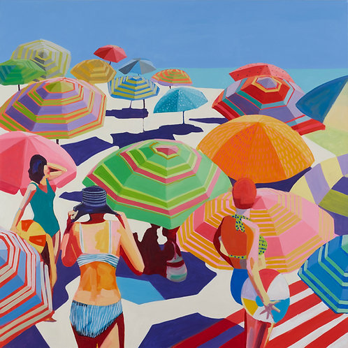 PARASOLS Large (Unframed) Signed Limited Edition Giclee Print