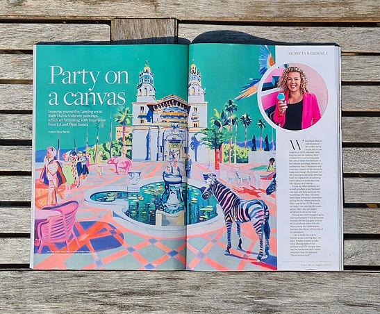 'Party on a Canvas' Sussex Life Feature by Faye Bartle
