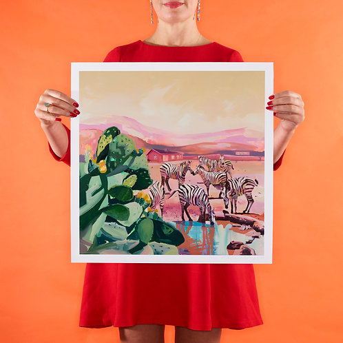 PINK SANDS Small (Unframed) Signed Limited Edition Giclee Print
