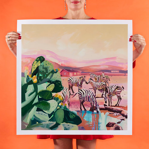 PINK SANDS Large (Unframed) Signed Limited Edition Giclee Print