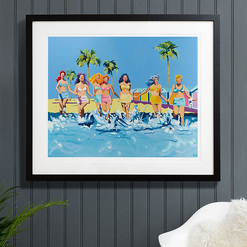 GIRLS Large (Unframed) Signed Limited Edition Giclee Print