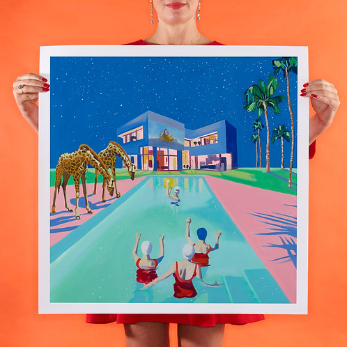MOVIE NIGHT Large (Unframed) Signed Limited Edition Giclee Print