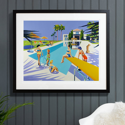 CHEETAHS IN IBIZA Jumbo (Unframed) Signed Limited Edition Giclee Print