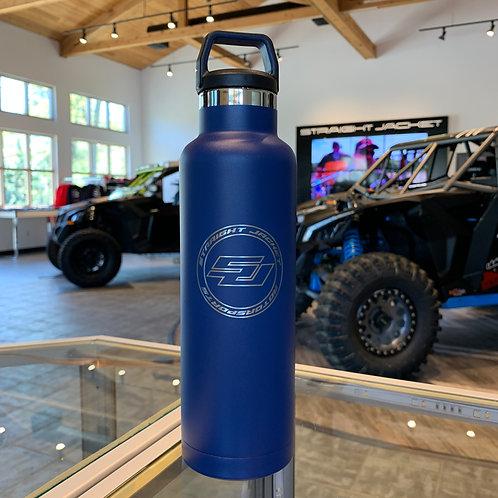 Straight Jacket Motorsports 20oz Water Bottle Freedom Blue