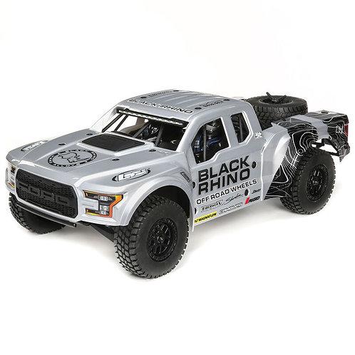 Losi 1/10 Ford Raptor Baja Rey 4WD Desert Truck Brushless RTR, Black Rhino