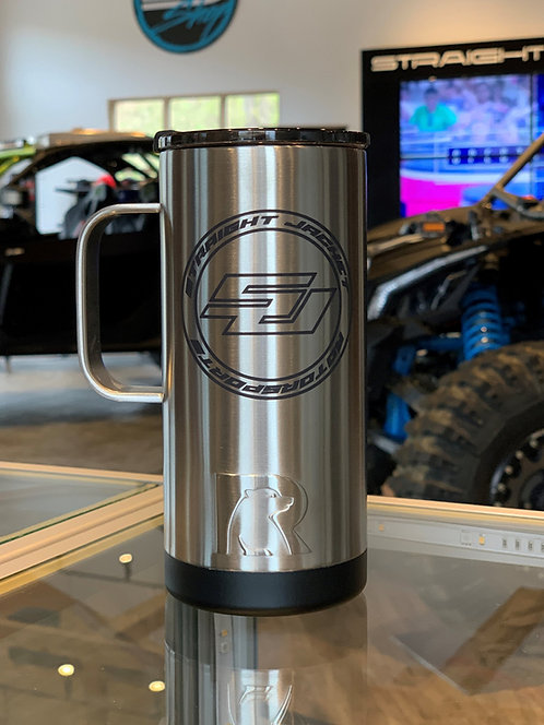 Straight Jacket Motorsports 16oz Travel Coffee Mug Stainless