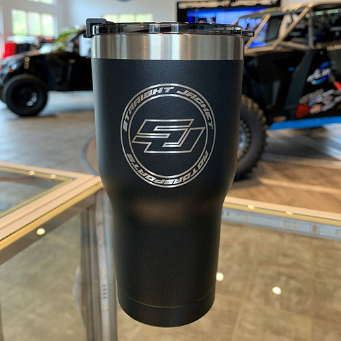 Straight Jacket Motorsports 20oz Tumbler Satin Black