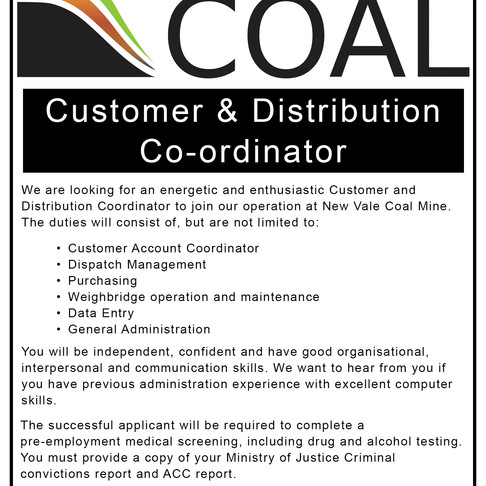 Job Opportunity at New Vale Office