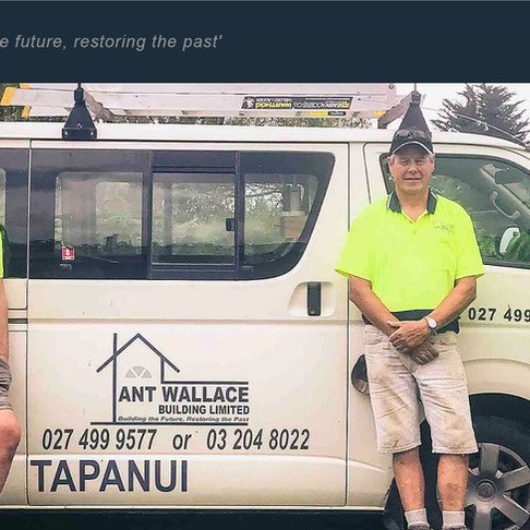 Ant Wallace Building ~ Tapanui ~ Website Development