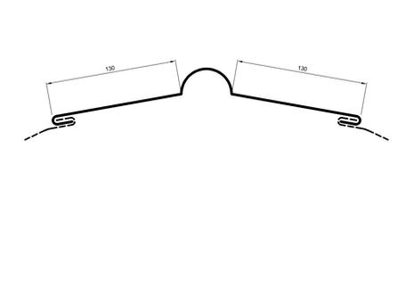 Flashings - Standard Ridging