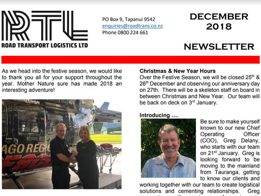 2018 RTL Newsletter - Read it now!