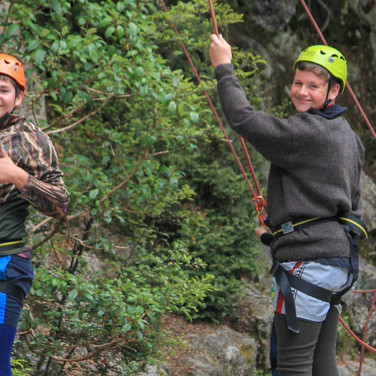 Rock Climbing with Blue Mountain College