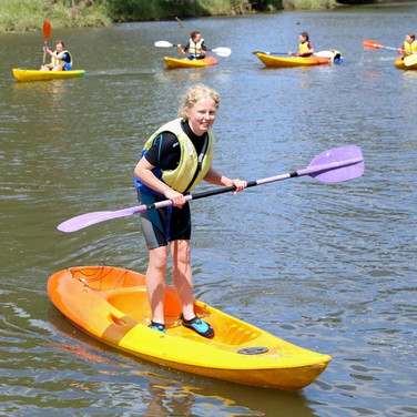 Kayaking with Blue Mountain College