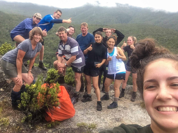 Hiking with Blue Mountain College