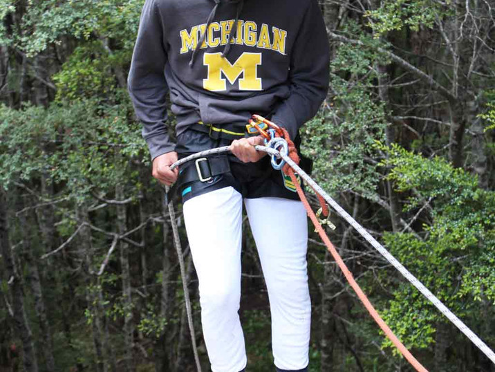Abseiling with Blue Mountain College