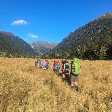 Tramping with Blue Mountain College