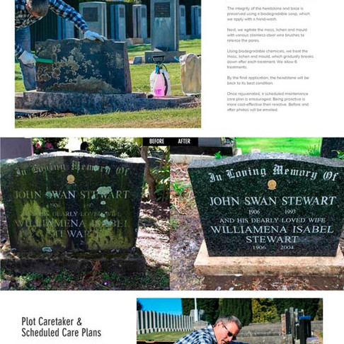 Cemetery Services, Gore ~ My Latest Website Design