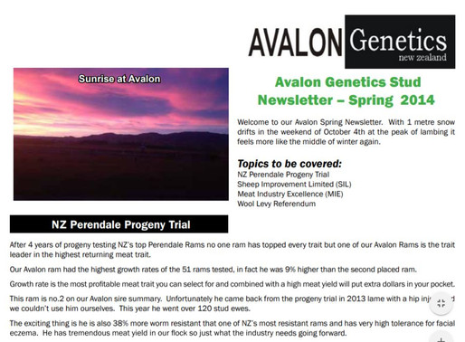 2014 Stud Newsletter - Spring
