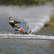Water skiing with Blue Mountain College