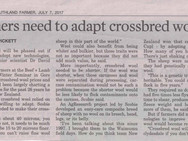 Farmers need to adapt crossbred wools Pt1