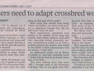 Farmers need to adapt crossbred wools Pt1