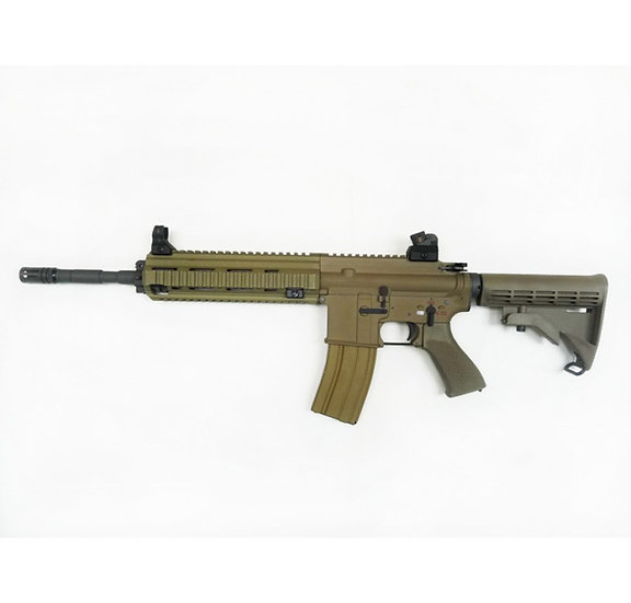 Upgraded WE HK416 GBBr Airsoft Rifle