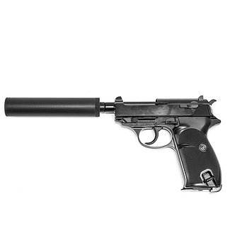 Upgraded WE P38K GBB Airsoft Pistol (Silencer version)