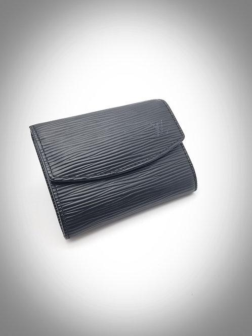 Louis Vuitton Card Case in Black Epi Leather