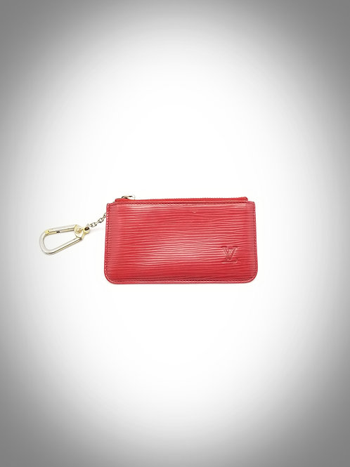 Pochette Cles in Red Epi Leather