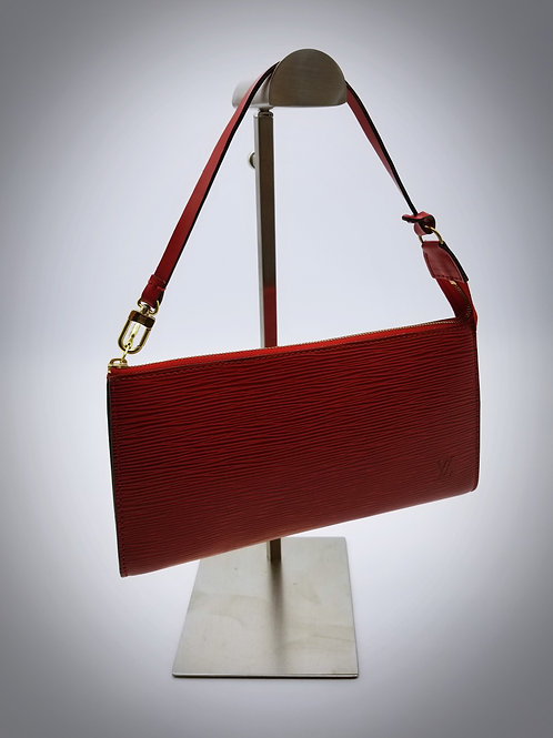 Louis Vuitton Pochette Accessoires in Red Epi Leather