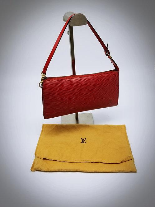 Louis Vuitton Pochette Accessoires in Epi Red Leather